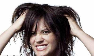 درمان موهای چرب و نازک